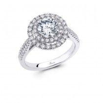 Save Round Cut Engagement Rings, Engagement Ring Styles, Halo Diamond Engagement Ring, White Gold Wedding Rings, Bridal Rings, Fashion Rings, Bride Groom, Wedding Bride, Silver Diamonds