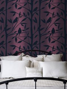 Would like wallpaper like this only with a more blue-ish purple http://www.wallpaperdirect.co.uk/products/albany/lime-tree/67763