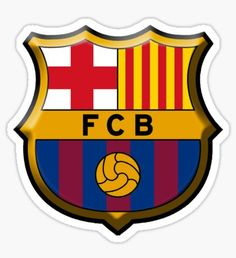 Fc Barcelona Stickers | Redbubble Barcelona Fc Logo, Barcelona Party, Topper, Lionel Messi, Baby Boy Shower, Manchester United, Sticker Design, Vinyl Decals, Stickers
