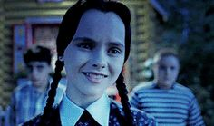 """ Addams Family Values "" Christina Ricci, Wednesday Addams Meme, I Love Cinema, Cara Delevingne, Creepy Smile, Real Witches, Milton Berle, Adams Family, Horror Films"
