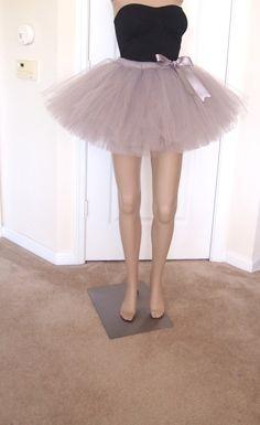 Silver Adult tutu Bridesmaid tutu Color run by AckeeTreeClothing