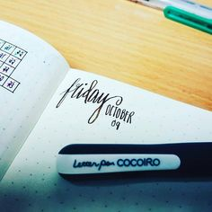 Practicing with my newest favorite, Cocoiro Pens! :D #CocoiroPen #Friday #FriYay #leuchtturm1917 Delete Commentjennydoesbujo#bujojunkies #bujolove #BulletJournal #bulletjournaljunkies #BuJo #Leuchtturm1917 #bulletjournaling #brushlettering #moderncalligraphy