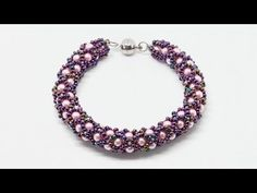 Красивый браслет жгут из бисера и бусин своими руками DIY Bracelet from ...