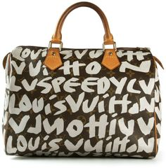 8e6e1e9c0c87 Louis Vuitton Vintage printed tote - ShopStyle. Louis Vuitton Speedy 30Louis  ...