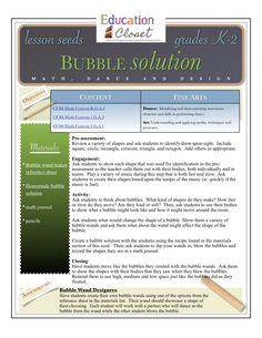 Bubble Solution Arts Integration Lesson Plan