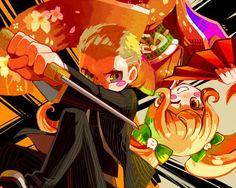 Fuyuhiko Kuzuryuu and Hiyoko Saionji Super Danganronpa 2