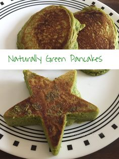 Naturally Green Pancakes | Sharing A To Z Candy Recipes, Pie Recipes, Cookie Recipes, Dessert Recipes, Desserts, Mint Smoothie, Whole Wheat Flour, Greens Recipe, Green Eggs