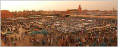 the famous square of Jama lfna in marrakech.one of the UNSCO sites in morocco