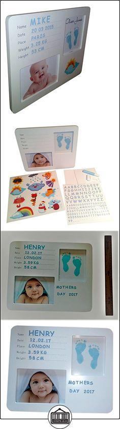 Bebé bebé personalizada pie o mano imprimir marco  ✿ Regalos para recién nacidos - Bebes ✿