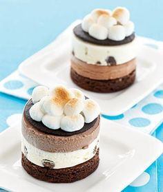Frozen S'Mores. Great idea when you are way too hot to go outside and sit by a fire to make the regular s'mores.