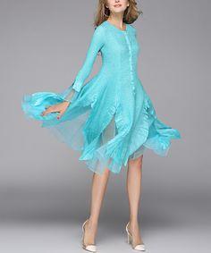 Jerry T Fashion Aqua Petal Midi Dress - Women & Plus by Jerry T Fashion #zulily #zulilyfinds
