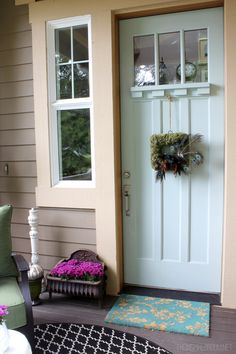 Sweet light blue craftsman styled front door @Matty Chuah Inspired Room