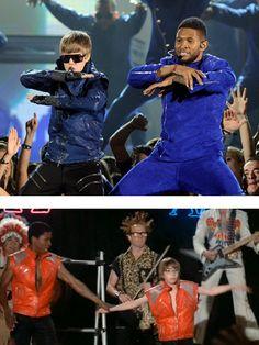 Justin Beiber and Usher --> Revenge of the Nerds.