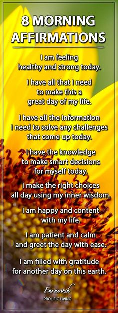 Morning affirmations...