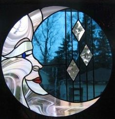 Stained Glass | Moon Whimsey | #StainedGlassMoon
