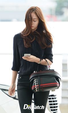 f(x) - Krystal Krystal Fx, Jessica & Krystal, Sexy Outfits, Casual Outfits, Fashion Outfits, Krystal Jung Fashion, Black Button Up Shirt, Korean Fashion Dress, Red Velvet Irene