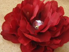 Clearance Petite Peony Flower Hair Clip in by EnchantedlyYours, $6.30