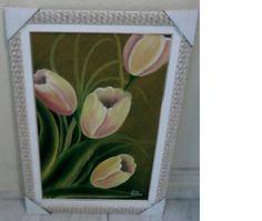 Tulipas Amarelas e Rosadas Frame, Home Decor, Yellow Tulips, Tulips, Yellow, Flowers, Picture Frame, Decoration Home, Room Decor