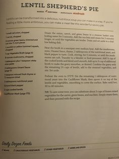 Old Recipes, Cookbook Recipes, Whole Food Recipes, Diet Recipes, Recipies, Vegan Recipes, Plant Based Whole Foods, Plant Based Eating, Plant Based Diet