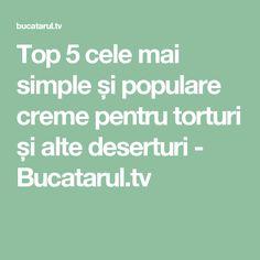 Top 5 cele mai simple și populare creme pentru torturi și alte deserturi - Bucatarul.tv