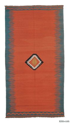 New Turkish Kilim Area Rug hand-woven in Konya, Turkey with vegetable-dyed and hand-spun wool. If you like the design of this rug, we can custom make it to meet your color and size requirements.