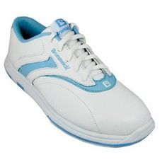 Brunswick Ladies Silk White/Blue bowling shoes