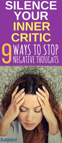 Silence Your Inner Critic: 9 Tips On How To Stop Negative Thoughts. Don't be a victim to your doubts. Learn how to tame your negative narrative #mindfulness | Anxiety Relief | Peace of Mind