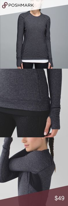 Lululemon think fast long sleeve In GOOD CONDITION NO STAINS NO HOLES! This cozy base layer is designed to keep your workouts outside as the temperature drops. Stretchy, naturally breathable Rulu™ fabric is sweat-wicking and buttery soft four-way stretch sweat-wicking buttery-soft handfeel lululemon athletica Tops Tank Tops