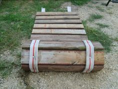 Roll-up sidewalk made from pallet wood and old fire hose. Roll-up sidewalk made from pallet wood and old fire hose. Go Camping, Camping Hacks, Outdoor Camping, Camping Ideas, Outdoor School, Camping Spots, Camping Supplies, Family Camping, Outdoor Play