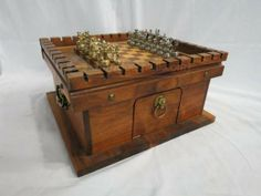 shopgoodwill.com: Monopoulos Greco-Roman Portable Wooden Chess Set