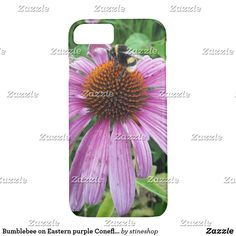 Bumblebee on Eastern purple Coneflower Case-Mate iPhone Case Unique Iphone Cases, Plastic Case, Apple Iphone, Purple