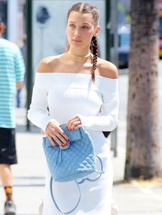 Bella Hadid Shows Us How to Wear Off-the-Shoulder Into Fall
