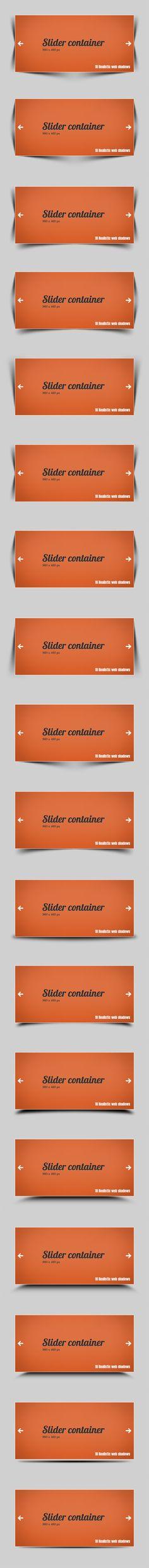 Web Shadows for Sliders
