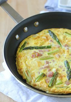 The Galley Gourmet: Asparagus, Ham and Cheddar Frittata