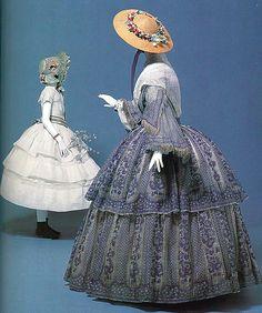 1850s sheer dress