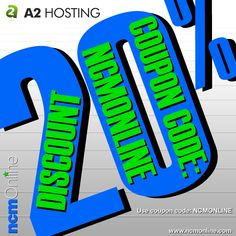 A2 Hosting coupon code: NCMONLINE. For A2 Hosting Review and Test Results visit: https://www.ncmonline.com/web-hosting-reviews/a2-hosting