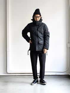 CANADA GOOSEカナダグース、KAMLOOPSカムループス New York Fashion, Mens Fashion, Outfits Hombre, Winter Outfits Men, Outdoor Fashion, Japanese Men, Japanese Street Fashion, Japan Fashion, Urban Outfits