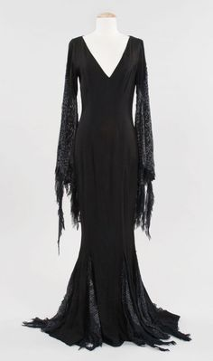 The original Morticia Addams costume.