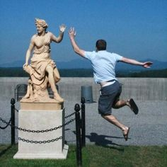Fun with statues.