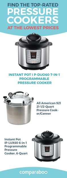 The best pressure cooker is hard to find with the huge amount of information on the web. Comparaboo analyzes thousands of reviews and articles to find the top 10 pressure cookers at today's lowest prices. Explore your options on our homepage. www.comparaboo.com | @comparaboo
