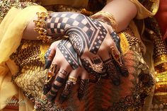Bridal henna in Sudan