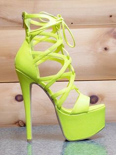 Pachanga Neon Yellow Lace Up Platform Shoes Stiletto High Heel Size 9 High Heel Boots Hot High Heels Platform High Heels Stiletto Heels High Neon High Heels, Neon Shoes, Platform High Heels, High Heels Stilettos, High Heel Boots, Heeled Boots, Stiletto Heels, Shoe Boots, Shoes Heels