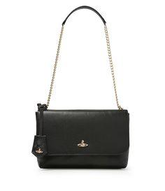 Large Balmoral  Bag With Flap 131116 Black