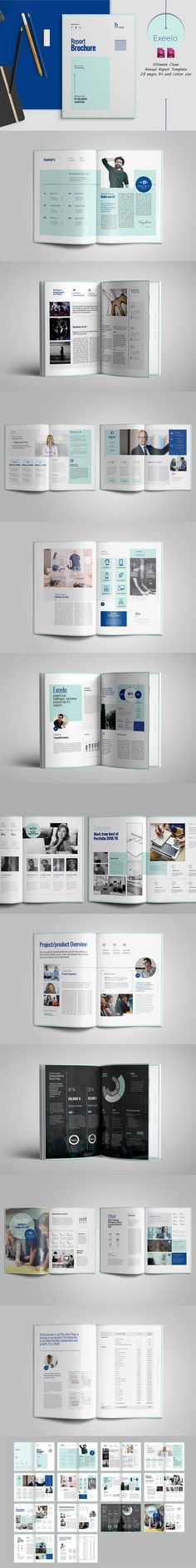 Annual Report 24 Pages Template INDD Annual Report Brochure - annual report template