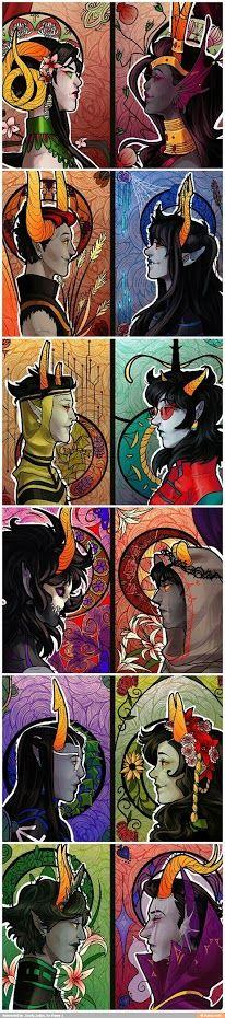 Handmaid, Condesce, Summoner, Mindfang, Grand Highblood, Signless, Darkleer, Disciple, Dolorosa, Duelscar