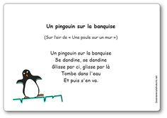 Comptine Un pingouin sur la banquise French Poems, Petite Section, Polar Animals, Info Board, My Job, Continents, Activities For Kids, Preschool, Album