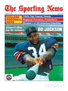 Auburn Tigers' Bo Jackson - August 26, 1985 Print at AllPosters.com
