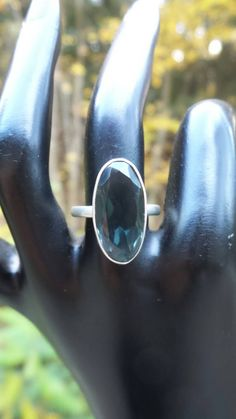 8 ct faceted Iolite Sterling Silver ring, size 8. by FierStaarGems on Etsy