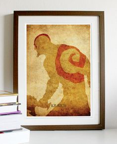 God of War Kratos Vintage Poster