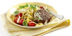 Boodschappen - Tartaartje met basilicumsaus en gepofte tomaat